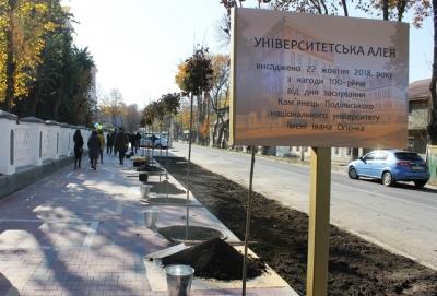 У Кам'янці висадили Університетську алею